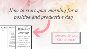Click here for your free workbook to create a morning routine for happiness and productivity.