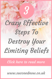 Click here to read 3 crazy effective steps to destroy your limiting beliefs and start living to your full potential