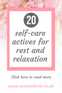 Click here to find out the 20 best self-care activities