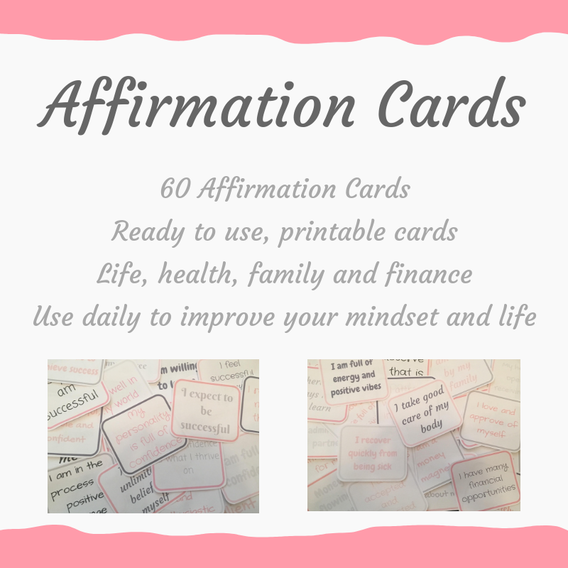 photo about Affirmation Cards Printable identify Confirmation Playing cards
